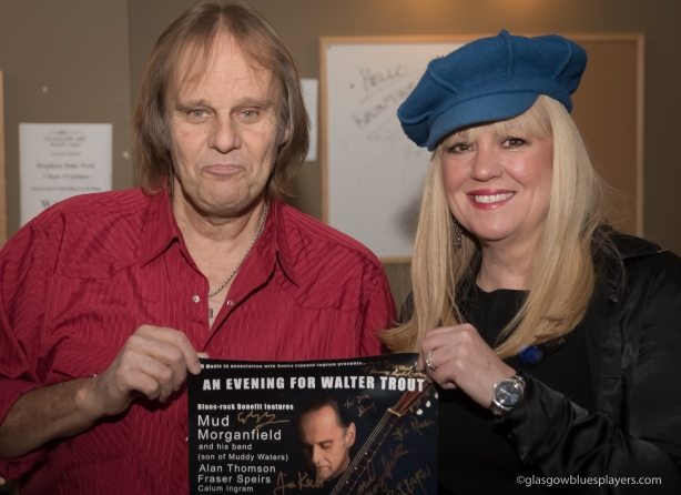 """Nancy Lippold-Ingram presents the """"An Evening for Walter Trout"""" poster."""