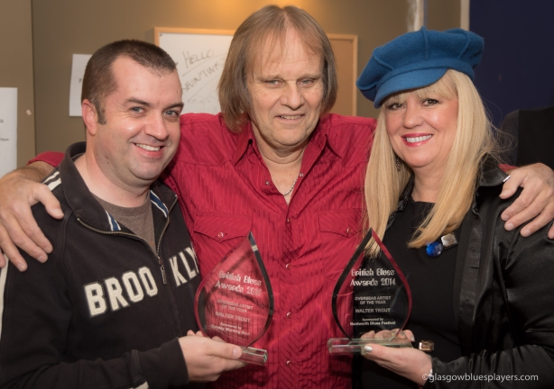 """Walter Trout receives """"Oversea Artist of the Year"""" for 2014 AND 2015"""